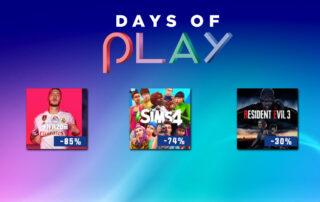 Days of Play milzīgas atlaides PS4 spēlēm