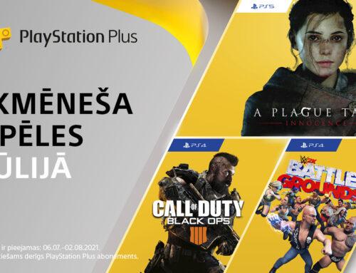 PlayStation Plus bezmaksas spēles – jūlijs 2021