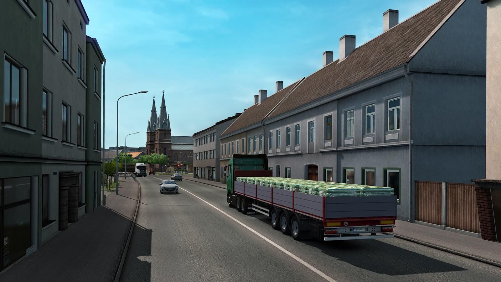 Arvutimäng Euro Truck Simulator 2: Beyond The Baltic Sea DLC