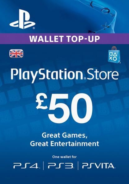 UK PSN 50 GBP Dāvanu Karte