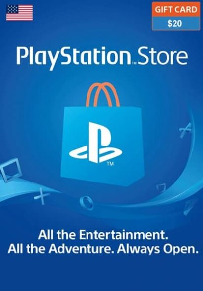 Playstation Karte.Usa Psn 20 Usd Davanu Karte Playstation Kartes 24 7