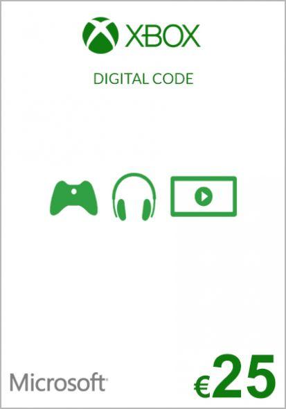 EU Xbox 25 Euro Dāvanu Karte (Xbox One & 360)