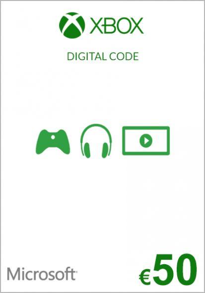 EU Xbox 50 Euro Dāvanu Karte (Xbox One & 360)