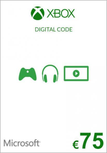 EU Xbox 75 Euro Dāvanu Karte (Xbox One & 360)