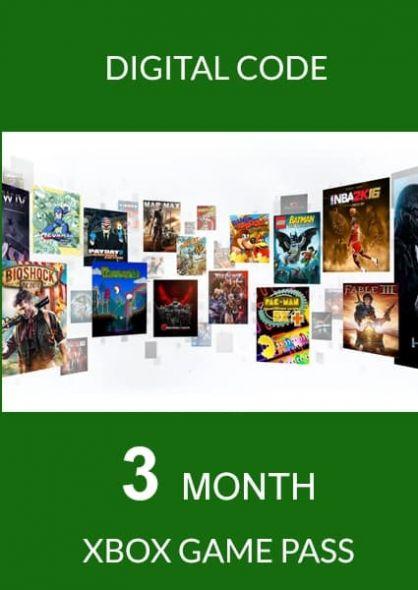 Xbox Game Pass 3 Mēnešu Abonements (Xbox One)