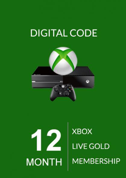 Xbox Live Gold 12 Mēnešu Abonements (Xbox One & 360)