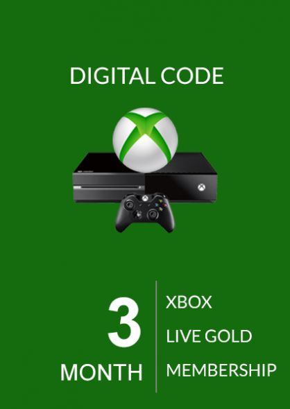 Xbox Live Gold 3 Mēnešu Abonements (Xbox One & 360)