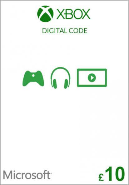 UK Xbox 10 GBP Dāvanu Karte (Xbox One & 360)