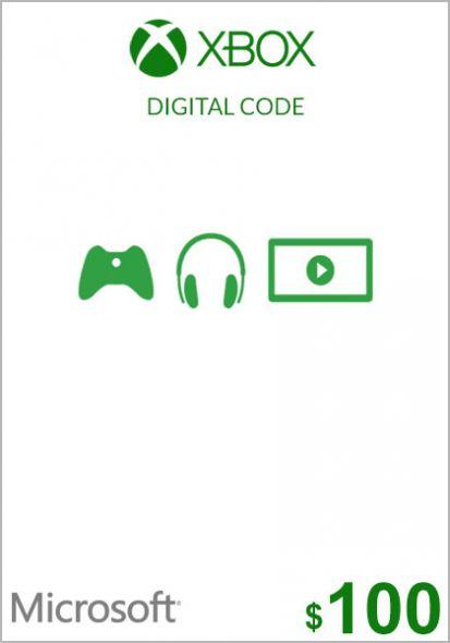 USA Xbox 100 Dolāru Dāvanu Karte (Xbox One & 360)