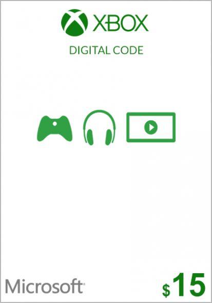 USA Xbox 15 Dolāru Dāvanu Karte (Xbox One & 360)