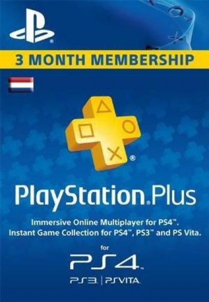 Holandes PSN Plus 3 Mēnešu Abonements