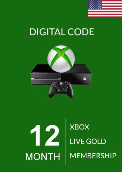 USA Xbox Live Gold 12 Mēnešu Abonements (Xbox One & 360)