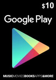 USA Google Play 10 Dolāru Dāvanu Karte