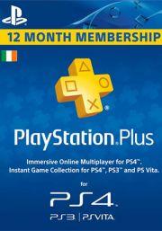 Īrijas PSN Plus 12 Mēnešu Abonements