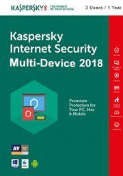 Kaspersky Internet Security Multi-Device 2018 (3 lietotāji , 1 gads)
