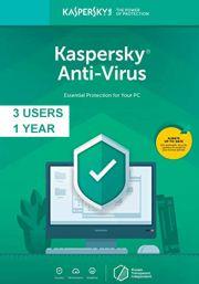Kaspersky Anti-Virus 2019 (3 lietotāji, 1 gads)