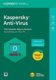 Kaspersky Anti-Virus 2021 (3 lietotājs / 1 gads)