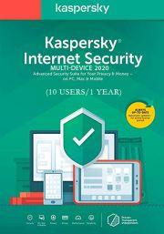 Kaspersky Internet Security Multi-Device 2020 (10 lietotāji , 1 gads)