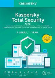 Kaspersky Total Security 2020 (5 lietotāji , 1 gads)