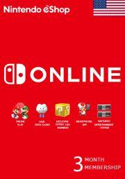 USA Nintendo 3 Mēnešu Abonements