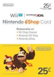 UK Nintendo 25 Mārciņu eShop Dāvanu Karte