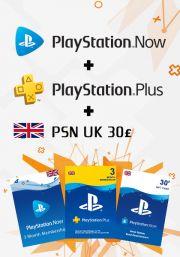 UK PSN 3 -  mēneša kombo