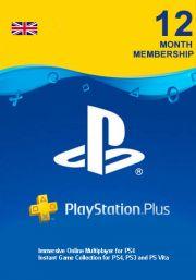 UK PSN Plus 12 Mēnešu Abonements