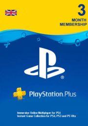 UK PSN Plus 3 Mēnešu Abonements