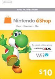 USA Nintendo 10 Dolāru eShop Dāvanu Karte