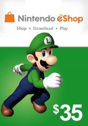USA Nintendo 35 Dolāru eShop Dāvanu Karte