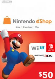 USA Nintendo 50 Dolāru eShop Dāvanu Karte
