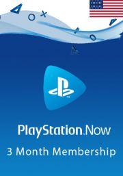 USA PlayStation Now 3 Mēneša Abonements