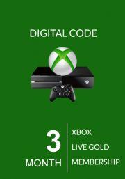 Xbox Live Gold 3 Mēnešu Abonements (Global)