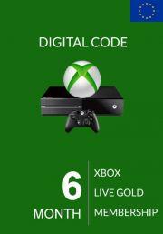 EU Xbox Live Gold 6 Mēnešu Abonements