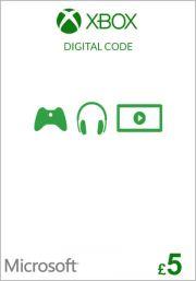 UK Xbox 5 GBP Dāvanu Karte (Xbox One & 360)
