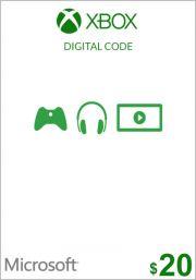 USA Xbox 20 Dolāru Dāvanu Karte