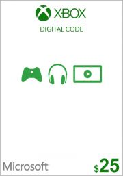 USA Xbox 25 Dolāru Dāvanu Karte