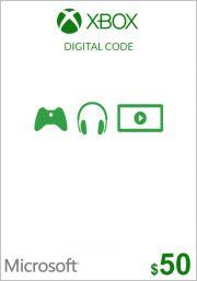 USA Xbox 50 Dolāru Dāvanu Karte