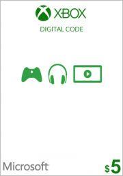 USA Xbox 5 Dolāru Dāvanu Karte