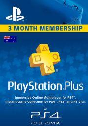 Austrālijas PSN Plus 3 Mēnešu Abonements