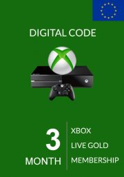 EU Xbox Live Gold 3 Mēnešu Abonements