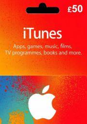 iTunes UK £50 Dāvanu Karte