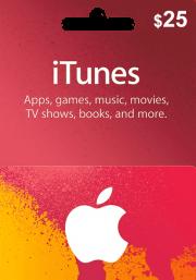 iTunes USA 25 USD Dāvanu Karte