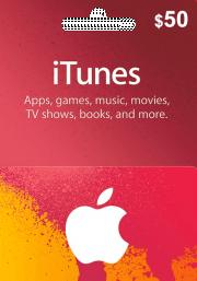 iTunes USA $50 Dāvanu Karte