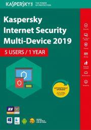 Kaspersky Internet Security Multi-Device 2019 (5 lietotāji , 1 gads)