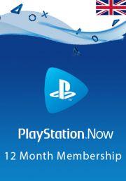 UK PlayStation Now 12 Mēnešu Abonements