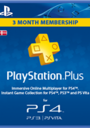 Dānijas PSN Plus 3 Mēnešu Abonements
