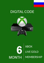 RUS Xbox Live Gold 6 Mēnešu Abonements