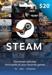 USA Steam 20 Dolāru Dāvanu Karte