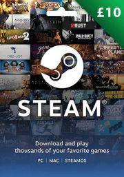 UK Steam 10 Mārciņu Dāvanu Karte